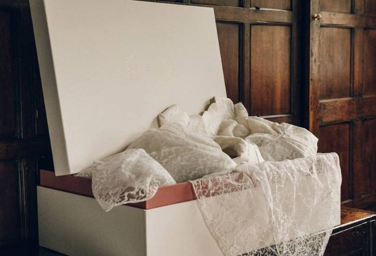 safely putting away a wedding dress
