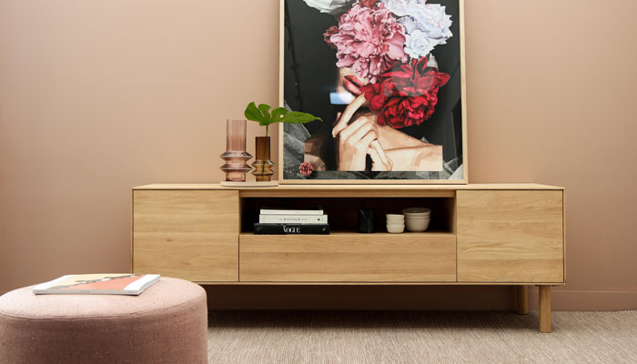 A nicely designed interior with furniture