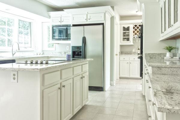 Natural light brightening up a kitchen's interior